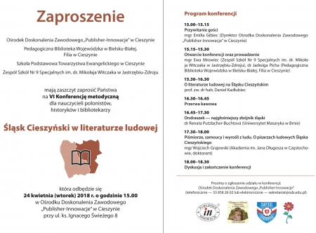 VI Konferencja metodyczna dla nauczycieli polonistów, historyków i bibliotekar