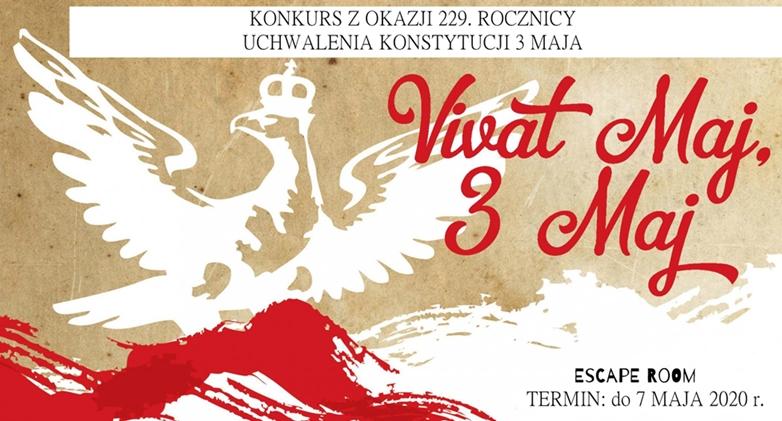 ESCAPE ROOM  z okazji 229. rocznicy uchwalenia Konstytucji 3 Maja KONKURS