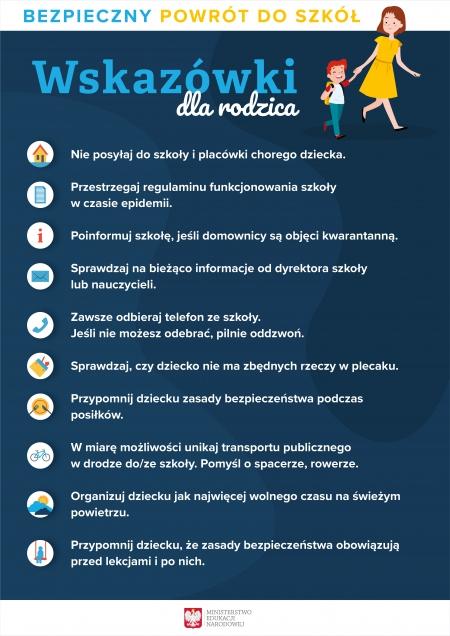 Bezpieczny powrót do szkoły - wskazówki dla rodzica
