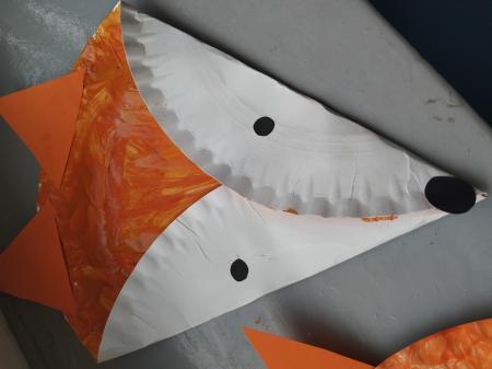 Liski z talerzyków papierowych