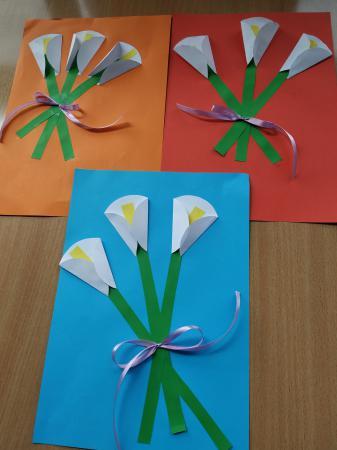 Wiosenne kwiaty- pracę kreatywne