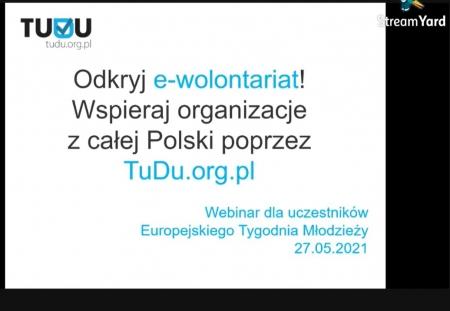 Sprawozdanie z E-wolontariatu !!!! Europejski Dzień Młodzieży !!!