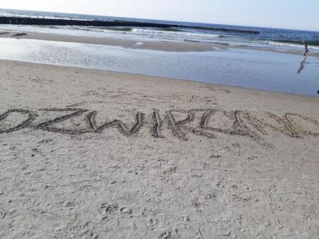 Na Dźwirzyńskiej plaży............